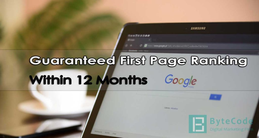 Guaranteed First Page Ranking Within 12 Months