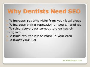 why local dentists need seo