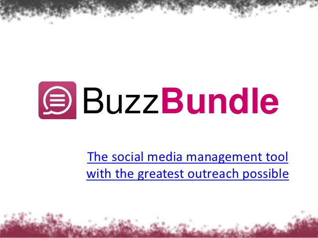 Buzzbundle Social Media Marketing tool