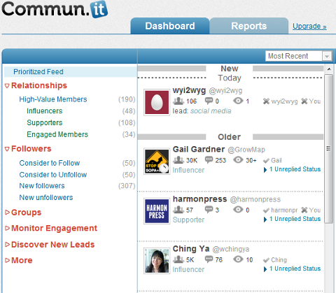 Commun.it Social Media Marketing Tool