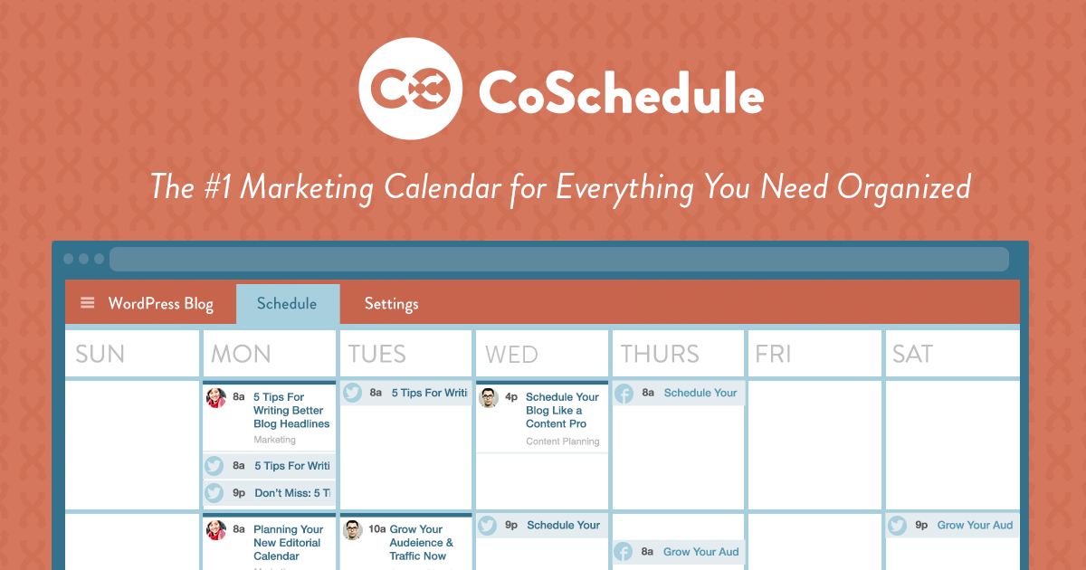 CoSchedule social media marketing