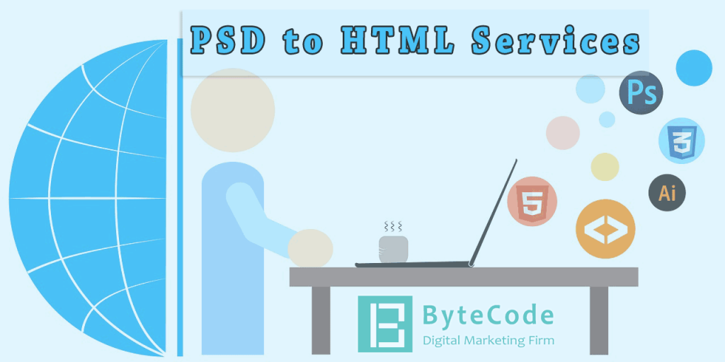 PSD to HTML Services by ByteCode