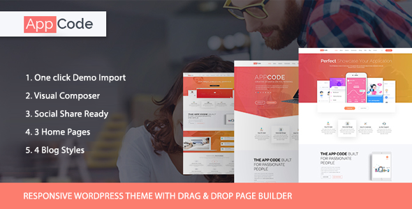 WordPress App Landing Page theme - AppCode