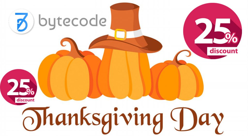 Thanksgiving Day Deals From ByteCode