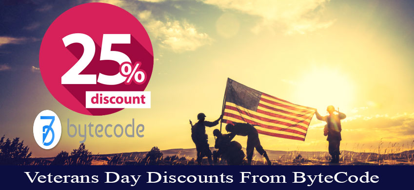 Veterans Day Discounts from ByteCode
